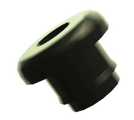 Rahmenstopfen für Lichtkabel, mit Loch, Ø 5,5 mm, PVC, schwarz - 1