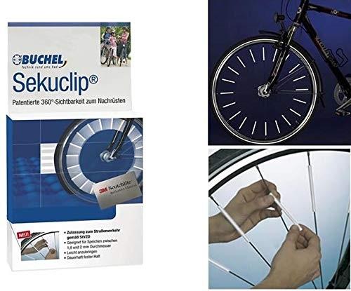 Büchel Speichenreflektoren, Seku-Clip 3M Scotchlite, 60mm, Krt. à 72 Stück, AS - 1