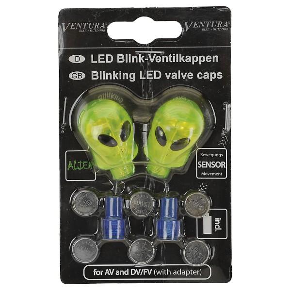 LED Ventilkappen für AV/DV Ventile, inkl. Batterien, (Paar), AS - 1