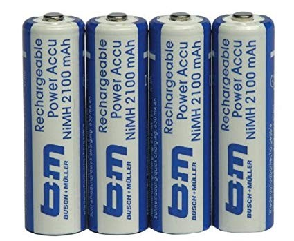 B&M Akku Batterien Mignon (AA) NiMH 2100mAh, lose - 1